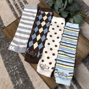 Baby Legs Set - 4 Pairs - Boys Themed Pack NEW